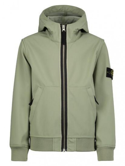Stone Island Junior Blouson soft shell 4A Kaki clair Kaki