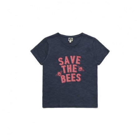 Bonton Tee shirt SAVE THE BEES 8-10A rose  Gris