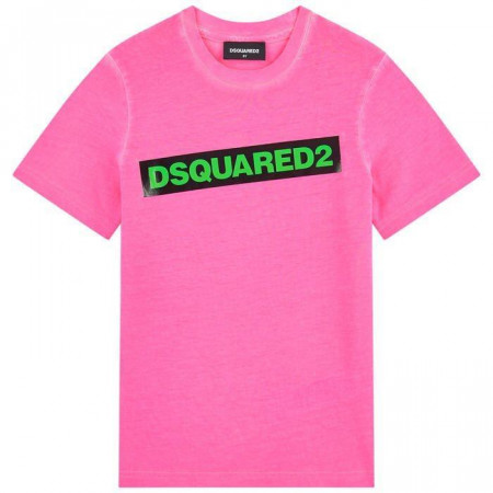 Dsquared Tee shirt DSQUARED rose Fluo 4-16A Rose