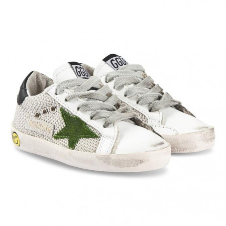 Golden Goose Superstar MESH lime B44 19-27 Blanc