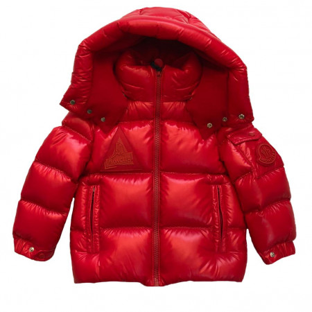 Moncler Doudoune rouge logo triangle 1214 rouge