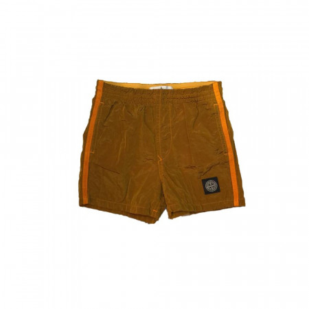 Stone Island Junior Maillot Cumin Stone Nylon 6-8A Orange