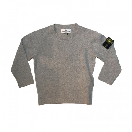 Stone Island Junior Pull maille coton 14A gris Gris
