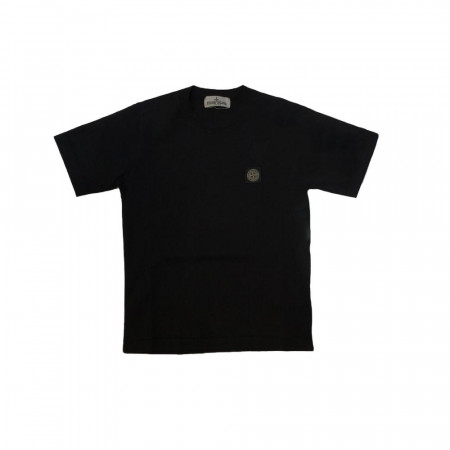 Stone Island Junior Tee shirt logo 10-12A Black Noir