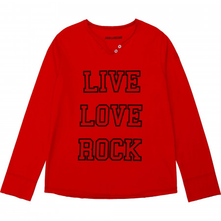 Zadig & Voltaire T-shirt ML live love rock 12A Rouge