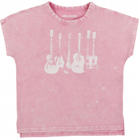 Zadig & Voltaire Tee shirt GUITARE 6-12A pink Rose
