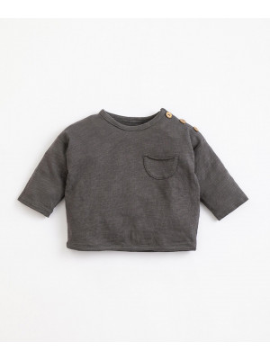 Play Up Tee shirt jersey ML poche anthracite Gris