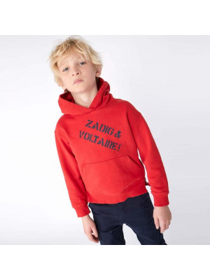 Zadig & Voltaire Sweat Capuche Rouge Z&V Zips 4A Rouge